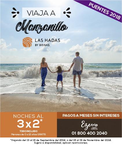 VIAJA A MANZANILLO 3X2 HOTEL LAS HADAS