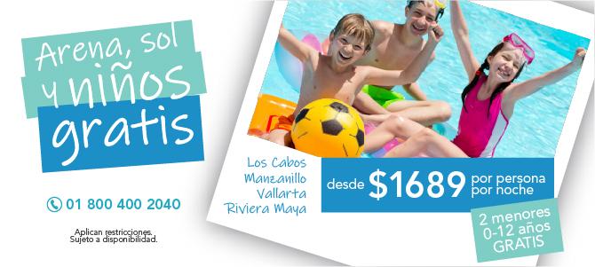 vallarta-manzanillo-los-cabos-riviera-maya-arena-sol-niños-gratis
