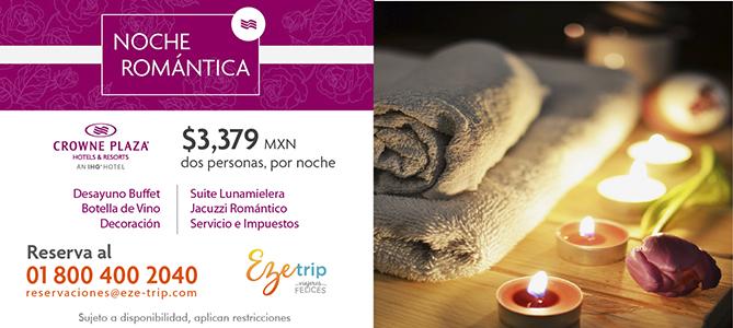 noche romantica crowne plaza ciudad de mexico cdmx