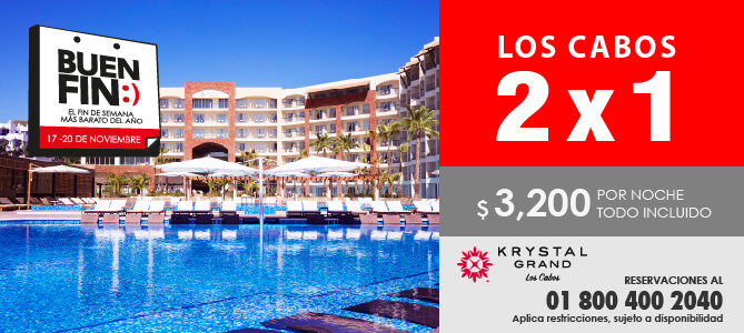 Crystal Grand los cabos 2X1