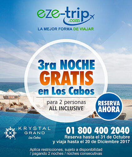 Krystal Grand Los Cabos Tercera Noche Gratis