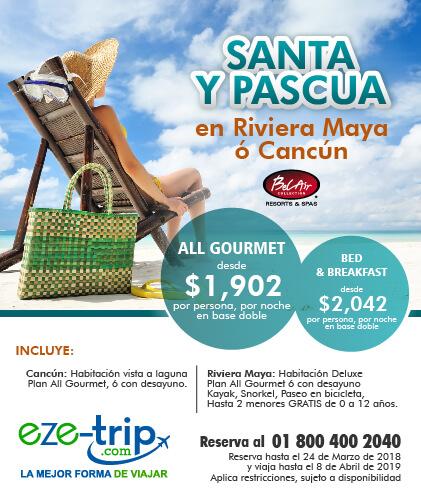 santa y pascua en riviera maya o cancun.