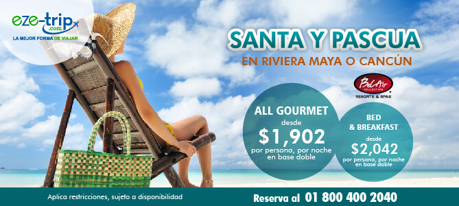 paquete riviera maya 9,950 pesos